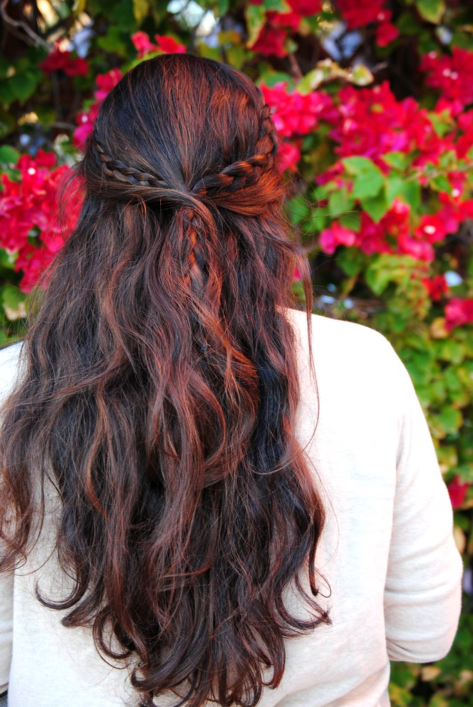 braided half hairstyle