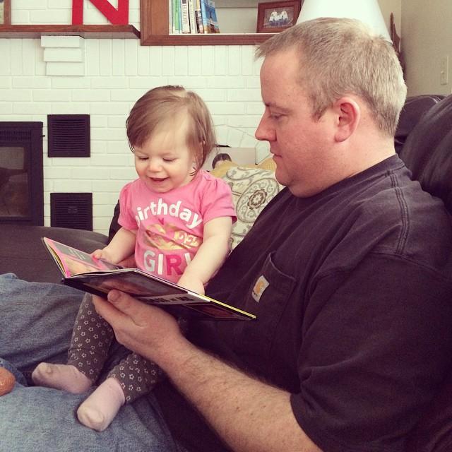 She still LOVES the baby book.