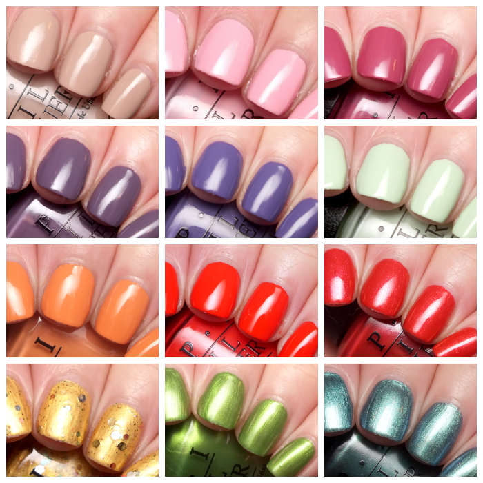 opi hawaii collection collage
