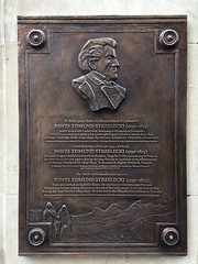 Photo of Paweł Strzelecki bronze plaque
