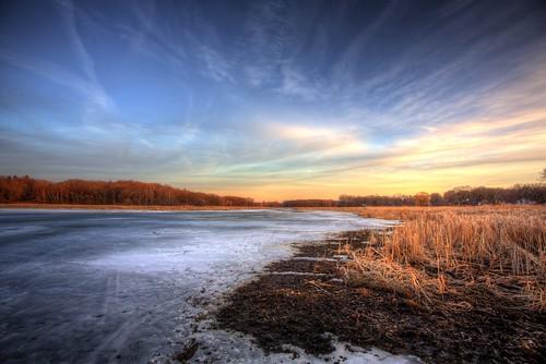 winter sunset 3 ice water minnesota canon landscape eos frozen angle dusk mark iii wide brush 5d mn hdr minnetonka 19mm photomatix