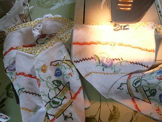 Bunting - sewing on new bias binding