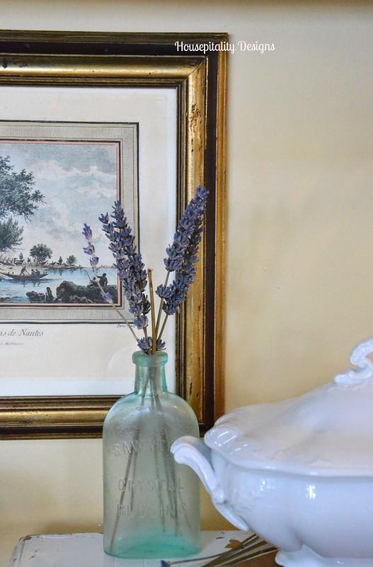 Vintage French Print/Vintage blue bottle-Housepitality Designs