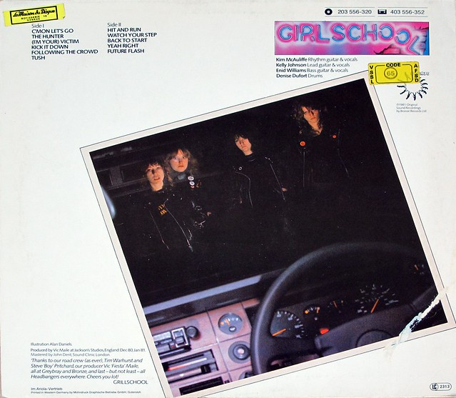 "GIRLSCHOOL HIT AND RUN NWOBHM12"" VINYL LP"