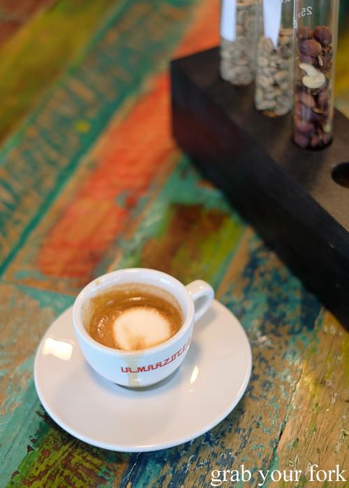Macchiato at Havana Coffee Works, Wellington