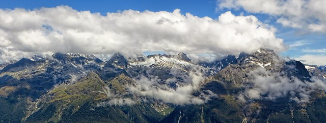 view from Conical Peak, Routeburn Track, NZ