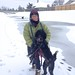 Small photo of Portie on Snow Walk
