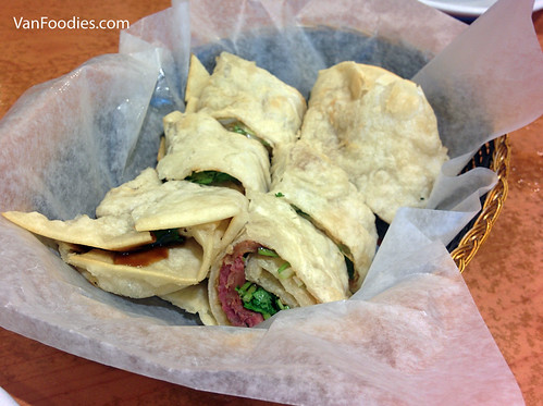 Five-spice Beef Wrap, Long's Noodle House