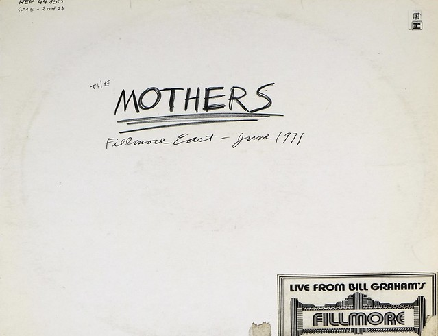 "FRANK ZAPPA'S MOTHERS FILLMORE EAST JUNE 1971 12"" LP VINYL"