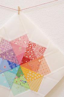 Pinwheel Star Mini Quilt Top