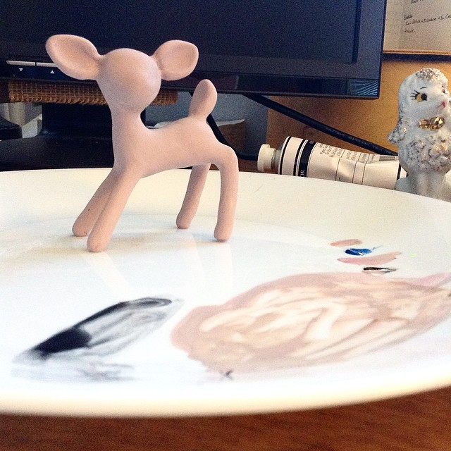 I need to get some real sculpting tools. Playing around with #sculpey and making my own figurines.
