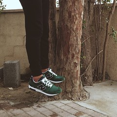 Me hanging on a tree. #levitation #newbalance #sneakers