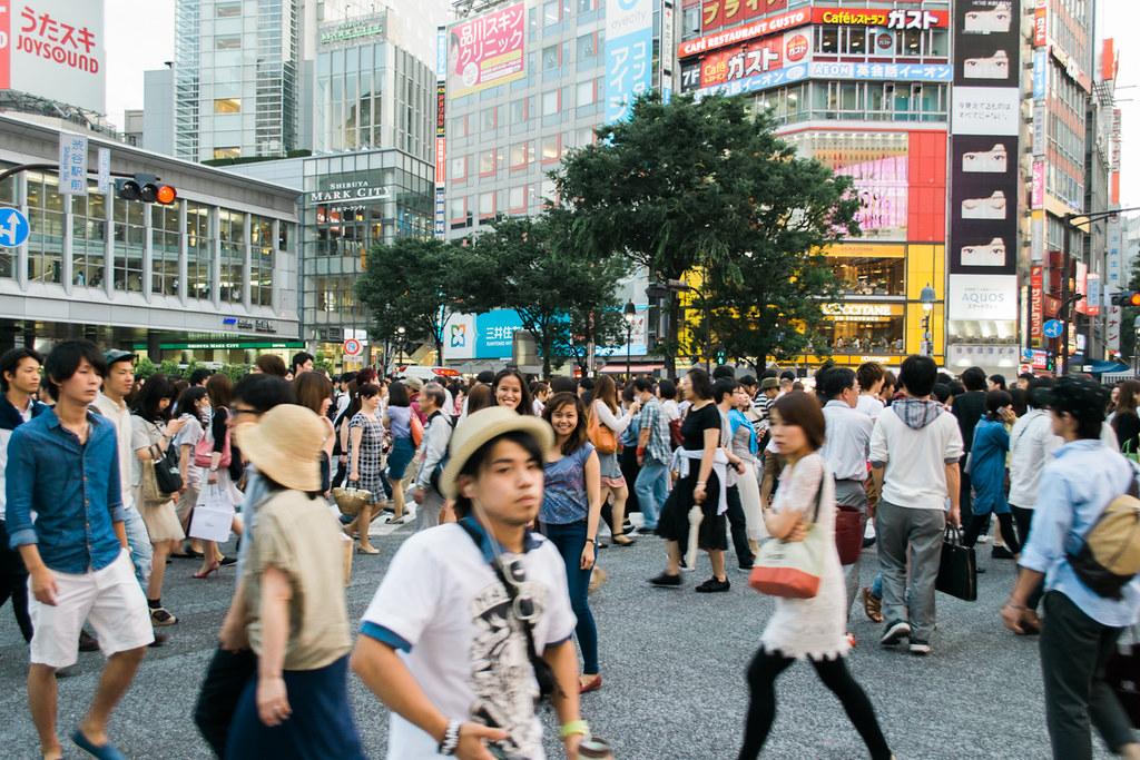 My best friend Mica and I in Shibuya Crossing