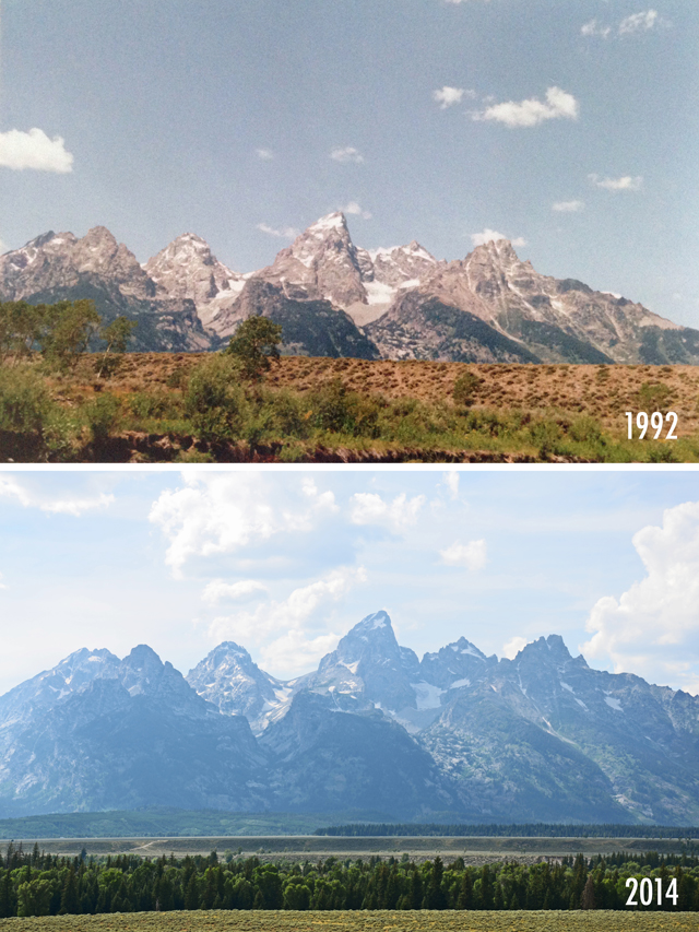 WY then & now | 1992 and 2014