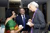 International Monetary Fund Managing Director Christine Lagarde (R) speaks with Arundhati Bhattacharya, Chairman of State Bank of India at an event in Reserve Bank of India, Mumbai, March 17, 2015.