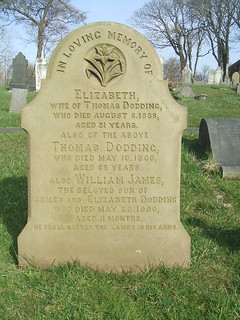 In memory of Elizabeth, Thomas and William James Dodding.