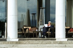 U.S. Secretary of State John Kerry reviews his briefing papers in Lausanne, Switzerland, on March 27, 2015, amid a break in negotiations with Iranian leaders about the future of their nuclear program. [State Department photo/ Public Domain]
