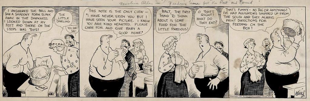 ... Second Frank King, Original Art for Gasoline Alley Comic Strip, 15  February 1921, Second