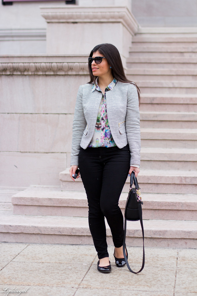 striped blazer, floral shirt, black pants, ballet flats-1.jpg
