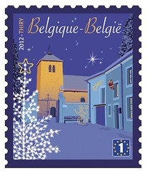 22b Noël timbre International
