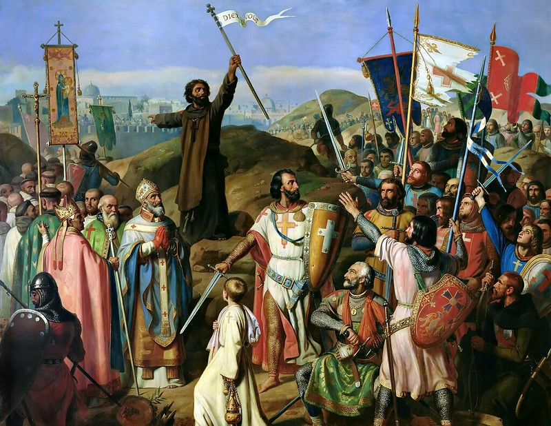Jean-Victor Schnetz - Procession of Crusaders Around Jerusalem, July 14, 1099 (1841)