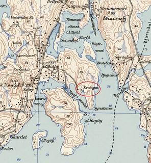 Kart over Mathopen 1946