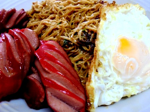 mee sua sausages and egg