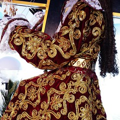 "Vestment detail of a #replica of the #BlackNazarene. The replica belongs to my my uncle. Every year during #HolyWeek his family organizes a traditional lenten ""Pabasa"" in our neighborhood. The #Pabasa began on Holy Wednesday and will last until Good Frida"