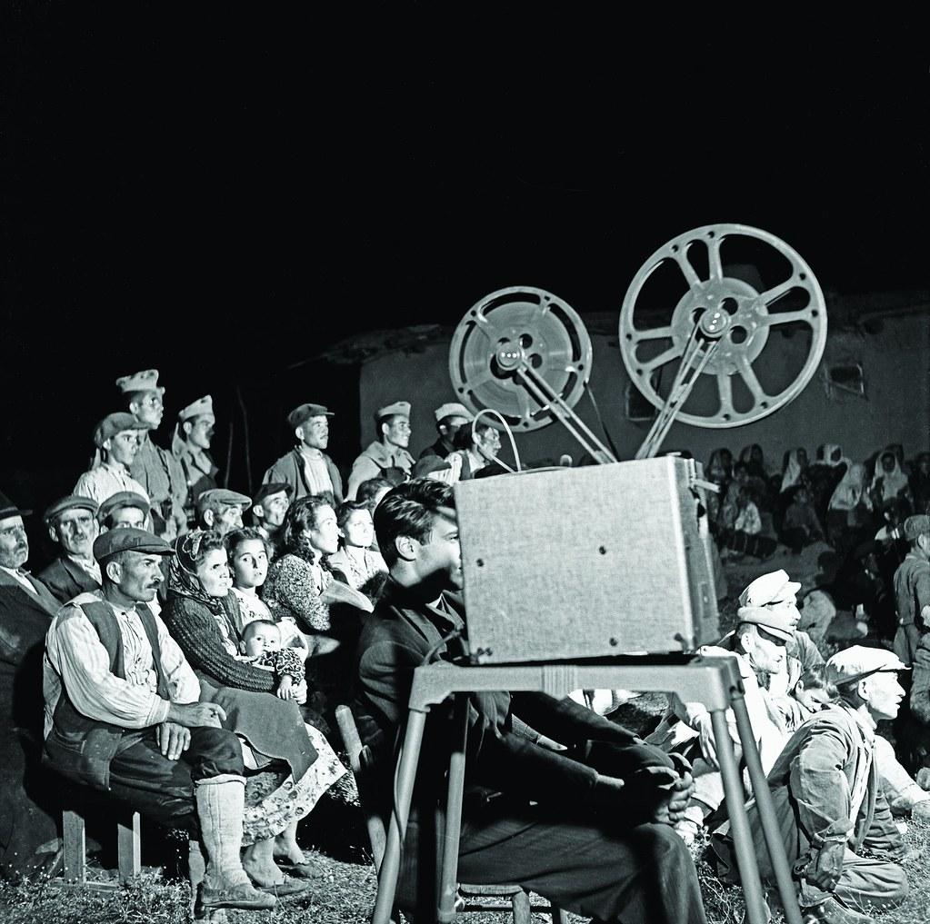 Residents of Ballıkpınar Village, movie screening, 1930s