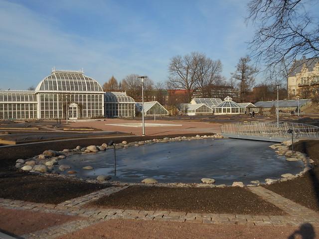Helsingin Kaisaniemen kasvitieteellisen puutarhan remontti - Tilannetta 19.3.2015 G