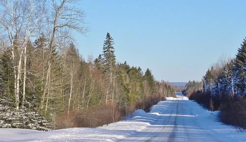 Going North in New Brunswick, Canada