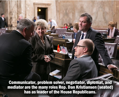 Rep. Dan Kristiansen leads the House Republicans