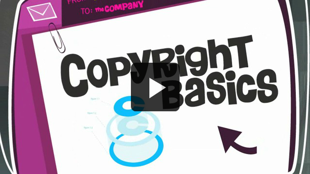 Copyright basics video screenshot