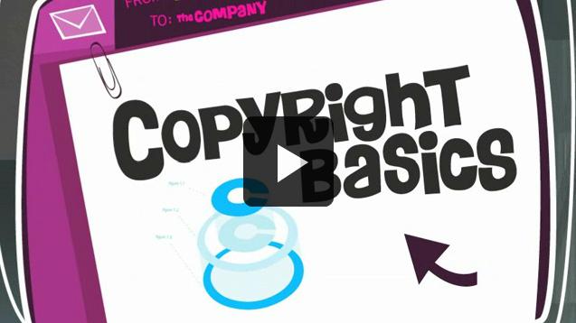 Copyright basics video screenshot