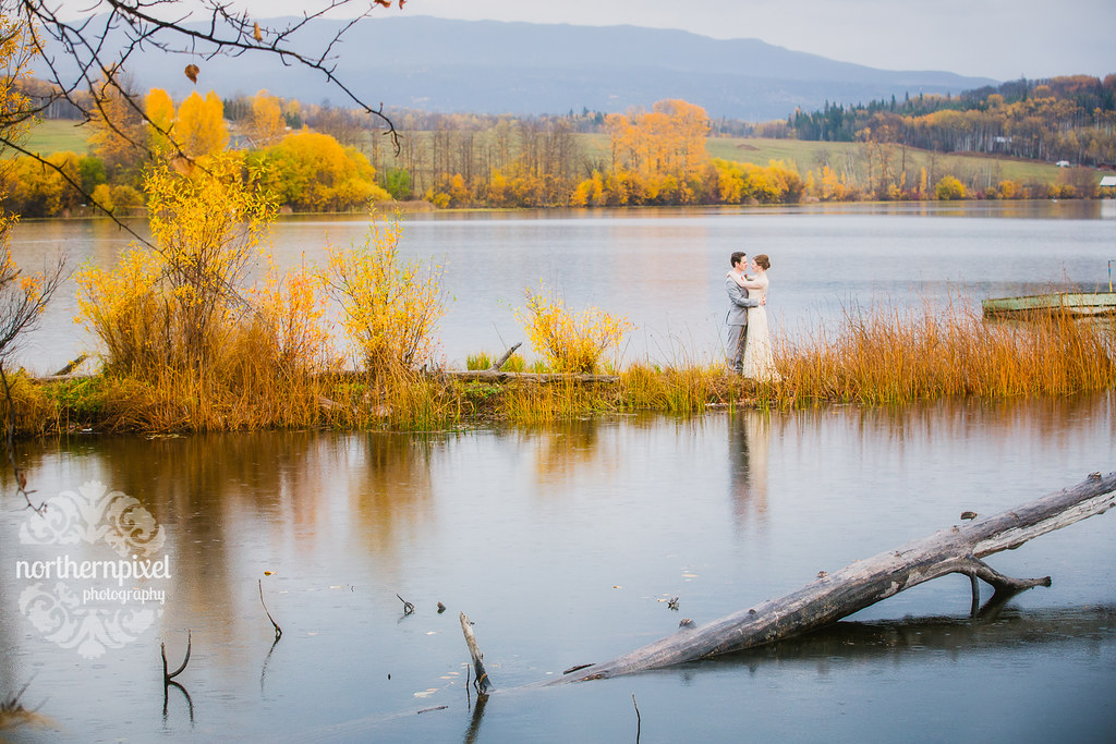 Round Lake Wedding Prince George BC Lakeside Wedding Photographer