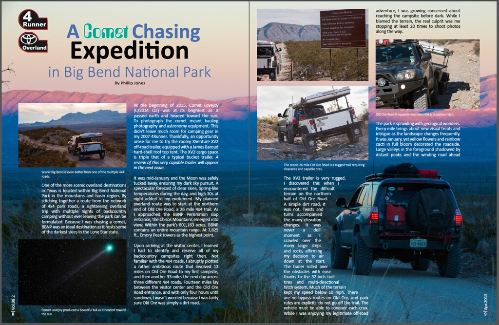 Comet chasing in big bend national park - Toyota 4Runner Magazine