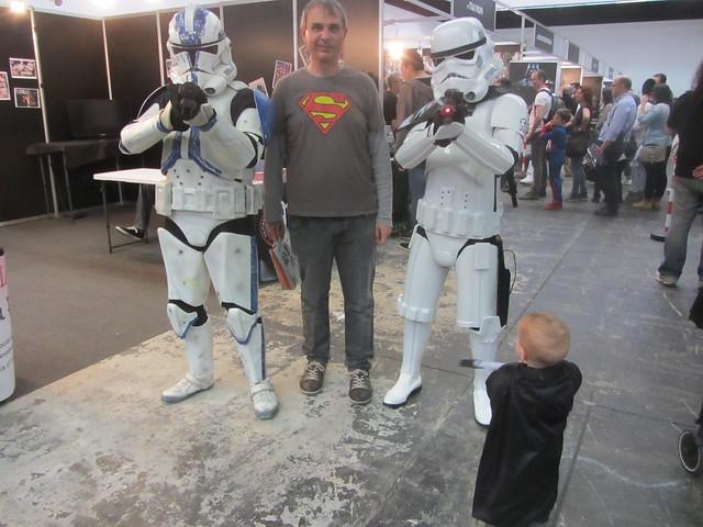 Dos Stromtroopers, Darth Vader y yo