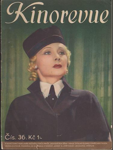 Časopis Kinorevue 1936-37 č. 36, Truda Grosslichtová
