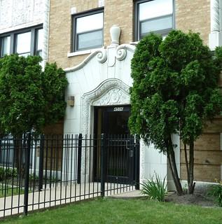 Chicago, Apartment Building, Art Deco Doorway