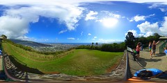 A View from the lookout at Pu'u Ualaka'a State Wayside (Roundtop) in above Honolulu, Hawai'i - A 360 Degree Equirectangular VR