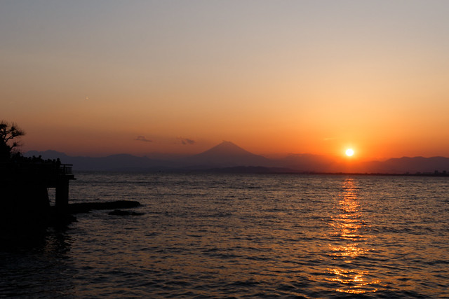 Mt.Fuji with sun set