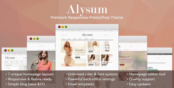 Alysum v4.5 - Premium Responsive PrestaShop Theme