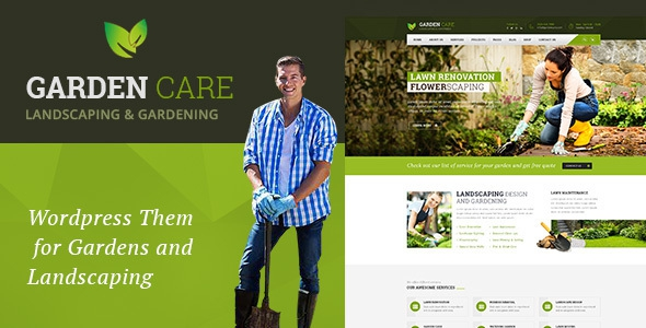 Garden Care v1.1 - Gardening and Landscaping WordPress Theme