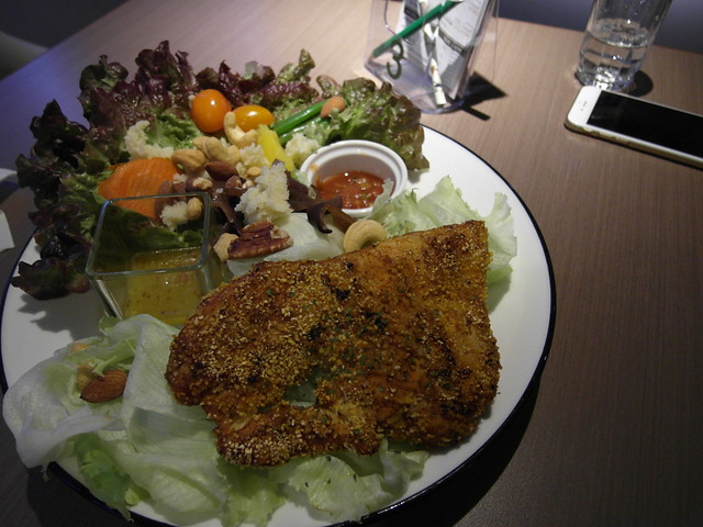 卡疆嫩煎雞胸沙拉 $230@樂樂小時光有機食材餐廳(附有親子遊戲區)