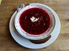 borscht at Cafe Europa in San Francisco