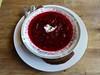 borscht at Cafe Europa in San Francisco