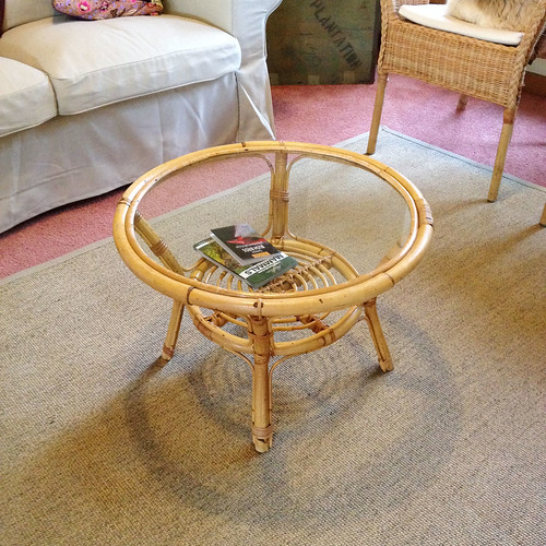 12.Apr.15 Op Shop Find: Cane Coffee Table