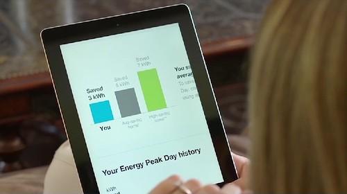 opwer透過自家和鄰居的用電量比較來省電。(圖片來源:Opower)