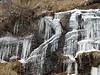 Eiszapfen im Fels