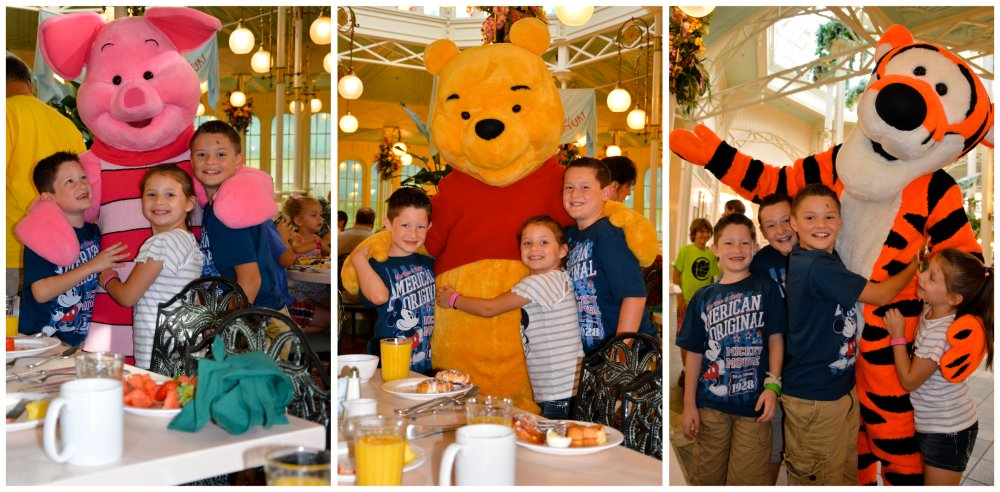 meeting piglet, pooh, and tigger